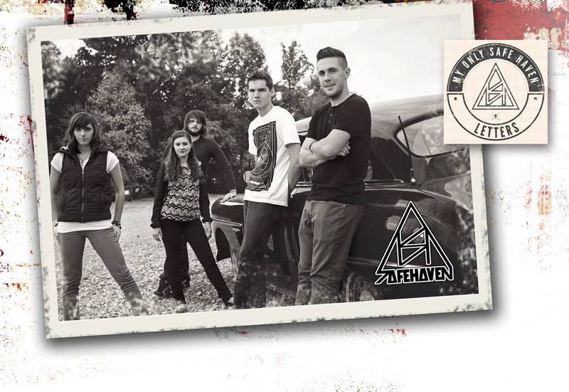 Left to right: lead vocals, Kayla Saunders; keyboard, Taylor Ray; drummer, Brian Sexton; guitar, Preston Belcher; guitar, Caleb Bolen.