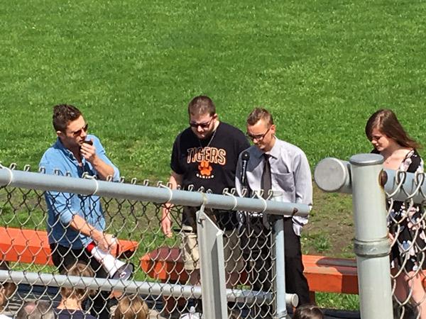 Prayers at Wimer Field.