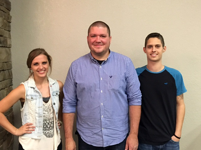 Grace Cline, Jacob Robinette, and Skyler Miller.